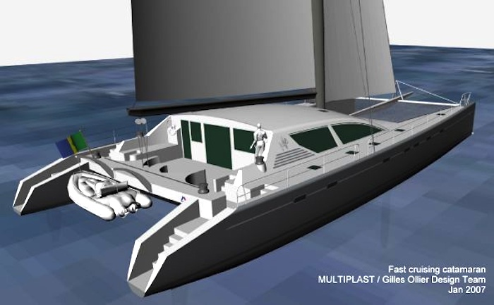 Multiplast 90' catamaran project